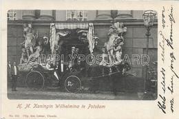 AK OLD POSTCARD H.M. KONINGIN WILHELMINA TE POTSDAM - PRIMI '900 - S52 - Familias Reales