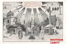 Teosophe Britannique Annie Besant Cpa Illustration Féministe Libre Pensée Lutte Pour Indépendance De L' Inde 1847 1933 - Andere