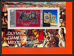 Nord Yemen YAR - 3506b/ Bloc N°77 A Argent Silver ORANGE  Jeux Olympiques Olympic Games Mexico 1968 ** MNH Cote 22 - Zomer 1968: Mexico-City
