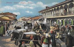 AK OLD  POSTCARD - ALBANIA - ALBANIEN - SCUTARI - SHKODRA - PARUZA - ANIMATA PRIMI '900 - S36 - Albania