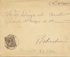 CARTA  ORENSE - RIBADAVIA   1900    NL655 - Cartas