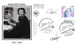 FRANCE. FDC.n°208486. 04/04/2014.cachet Duras. Marguerite Duras. Signé Beaujard - 2010-2019