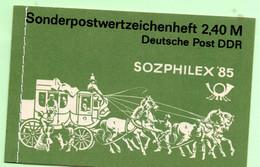 Cheval, Diligence, Attelage - Carnet Allemagne Orientale 1985,  16 Timbres - Fraicheur Postale. - Jersey