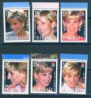 Kiribati 2007 Princess Diana 6v MNH - Kiribati (1979-...)
