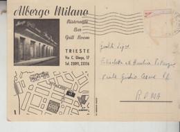 TRIESTE  ALBERGO MILANO  VEDUTE SALUTI   1955 - Trieste