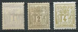Luxembourg YT N°47-48-49 Groupe Allégorique Neuf/charnière * - 1882 Alegorias