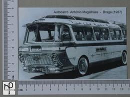 PORTUGAL - AUTOCARRO ANTÓNIO MAGALHÃES -  BRAGA -   2 SCANS  - (Nº43125) - Braga