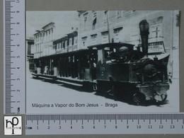 PORTUGAL - MAQUINA A VAPOR DO BOM JESUS -  BRAGA -   2 SCANS  - (Nº43126) - Braga