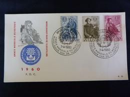 "BELG.1960 1125-1127 FDC ( Brux-Brus ):  "" Wereldjaar V/d Vluchteling /Année Mondiale Du Réfugié   "" - 1951-60"