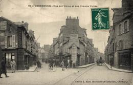 N°83999 -cpa Cherbourg -rue De L'Union Et Rue Grande Vallée- - Cherbourg