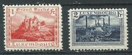 Luxembourg YT N°132-133 Chateau De Vianden - Forges D'Esch Sur Alzette Neuf ** (Voir Description) - Unused Stamps