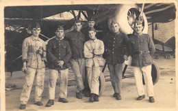 Carte-Photo Animée - Groupe De Soldats - Aviation, Avion, Mécanicien - Uniformi