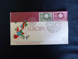BELG.1960 1150-1151 FDC's (Bruxs) :  Europa 1960 - 1951-60