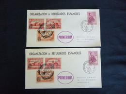 BELG.1960 Enveloppes Erinnofilie E81/83 Dentelé Non Dentelé Organizacion De Refugiados Espanoles Primer Dia - Erinnofilia