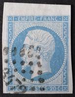 14A Margé, Grand BdF, Obl PC 3472 Valenciennes (57 Nord ) Ind 1 - 1853-1860 Napoleone III