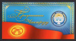 Kyrgyzstan Flag. COA. - Kirghizistan