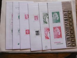 FRANCE    C1520A / 1521 / 1522 / 1523 / 1524 / 1525A 1526    CARNETS TYPE MARIANNE  NON PLIES L  ENSEMBLE - Commemorrativi