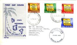TOKELAU ISLANDS 1969 History Of Tokelau FDC Illustrated SG 16-9 - Tokelau