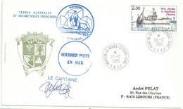 YT 100 - Chalutier Austral - Posté à Bord - Martin De Viviès - St Paul Amsterdam - 20/12/1986 - Lettres & Documents