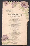 Menu En Découpe, Illustré, Utilisé En 1903  (PPP29344) - Menus