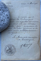 Lettre Du Maire De Caissargues Du 15 Mars 1906 - Zonder Classificatie