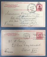 Etats-Unis - Lot De 2 Entiers Pour La France - (A1356) - 1941-60