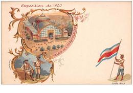 Costa Rica. N° 47725. Exposition De 1900 . Drapeau .  Cp Pub . Illustrateur - Costa Rica