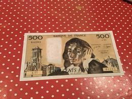 500 F PASCAL D.3-11-1977.D  Voir Le Scan Pour L'état - 500 F 1968-1993 ''Pascal''