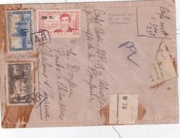 A.O.F. ETIQUETTE DE SAC DE CAFE RECOMMANDEE - Lettres & Documents