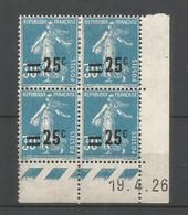 Coins Datés De France Neuf *  N 217  Année 1926  Charnière En Haut - ....-1929