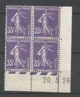 Coins Datés De France Neuf *  N 142  Année 1926  Charnière En Haut - ....-1929
