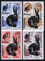 KORIAKIA - 1992 - Fauna, Bird & Rabbit O/p On 16 Russian - Perf 4v Set - Mint Never Hinged - Private Issue - Unclassified