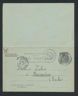 """CHINE 1907 - Entier Postal France 10 Cts Sage Surchargé """"Chine"""" Rouge De Shanghai 上海 Pour France - Voir Scan - Briefe U. Dokumente"""