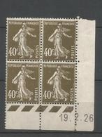 Coins Datés De France Neuf *  N 193  Année 1926  Charnière En Haut - ....-1929