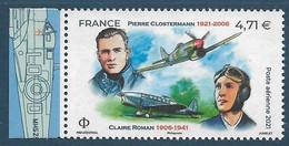 PA 85a Pierre Clostermann / Claire Roman  Du Feuillet De 10 Timbres (2021) Neuf** - Neufs