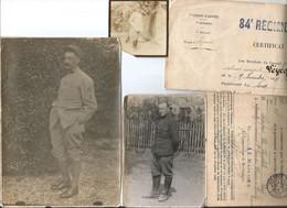 Lot De Papiers Et Photos De Soldats De Calais-mervilles Soldat Tué Le 25-09-1915-rare - Documents