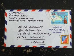 LETTRE DOMINICAINE REPUBLICA DOMINICANA AVEC YT PA 264 ET BIENFAISANCE 46a - LUTTE DIABETE ECOLE PTT - Dominican Republic