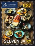 Slovenia - 2021 - Traditional Food Of Slovenia - European Gastronomy Region - Mint Stamp - Slowenien