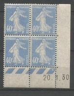 Coins Datés De France Neuf *  N 237  Année 1930  Charnière En Haut - ....-1929