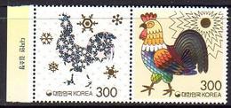 Coree Du Sud Korea 2961/62 Zodiaque Chinois, Année Lunaire Du Coq - Astrologia