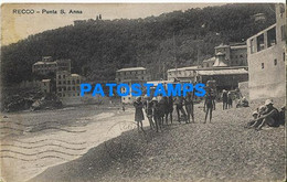 162222 ITALY RECCO GENOVA PUNTA S. ANNA VIEW PARTIAL SPOTTED POSTAL POSTCARD - Unclassified
