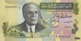 Tunisie 1/2 Dinar (P69) 1973 (Pref: A/6) -UNC- - Tunisia