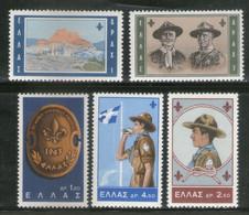 Greece 1963 Boy Scout Jamboree Sc 759-63 MNH # 417 - Nuevos