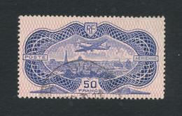 FRANCE 1936 - 50 Francs Burelé Rose N°YT 15 Oblitéré °  Cote 400€ - Voir Scan - 1927-1959 Gebraucht