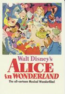 Postcard - Disney Art  Movie Posters - Alice In Wonderland 1951  - New - Unclassified