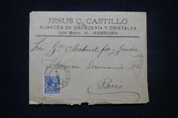 ESPAGNE - Enveloppe Commerciale De Pamplona Pour La France En 1899 - L 98994 - Cartas