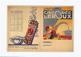 Chicorée Leroux, Reproduction D'un Protège Cahier - éditions Floriscope - Neuve - Advertising
