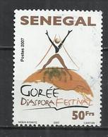 SENEGAL 2007 - FESTIVAL DIASPORA GOREE - POSTALLY USED OBLITERE GESTEMPELT USADO - Senegal (1960-...)