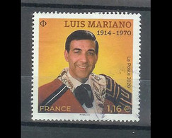 Superbe Timbre Gommé Luis Mariano 2020 Oblitérée TTB PCD Rond - Used Stamps