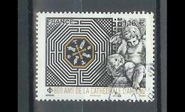 Superbe Timbre Gommé 800 Ans De La Cathédrale D'Amiens 2020 Oblitérée TTB PCD Rond - Used Stamps